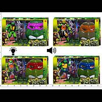 Игровой набор Ниндзя черепашки HT16455 с маской батар.муз.свет 4в.кор.50*20*35