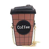 Сумка кофе, женская сумочка. клатч