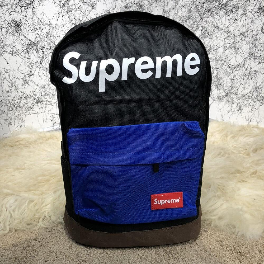 Supreme Backpack Combat Black/Blue