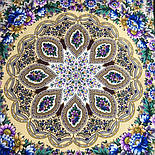 Злато-серебро 1731-17, павлопосадский платок (шаль) из уплотненной шерсти с шелковой вязанной бахромой, фото 5