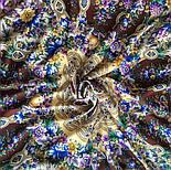 Злато-серебро 1731-17, павлопосадский платок (шаль) из уплотненной шерсти с шелковой вязанной бахромой, фото 7