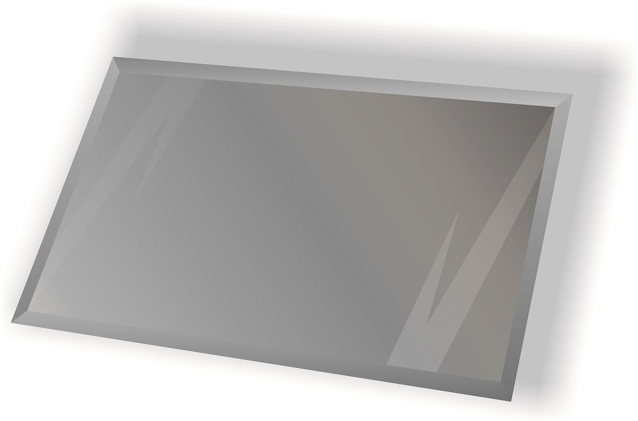 Зеркальная плитка НСК прямоугольник 450х500 мм фацет 10 мм серебро (натуральный цвет зеркала), фото 1