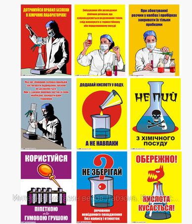 набора плакатов в лаборатории
