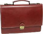 Чоловічий портфель з якісної натуральної шкіри Rovicky AWR-2-1 коричневий, фото 2