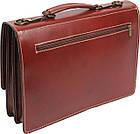 Чоловічий портфель з якісної натуральної шкіри Rovicky AWR-2-1 коричневий, фото 4