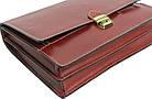 Мужской портфель из качественной натуральной кожи Rovicky AWR-2-1 коричневый, фото 6