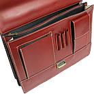 Чоловічий портфель з якісної натуральної шкіри Rovicky AWR-2-1 коричневий, фото 7