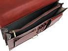 Чоловічий портфель з якісної натуральної шкіри Rovicky AWR-2-1 коричневий, фото 8