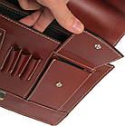 Чоловічий портфель з якісної натуральної шкіри Rovicky AWR-2-1 коричневий, фото 9