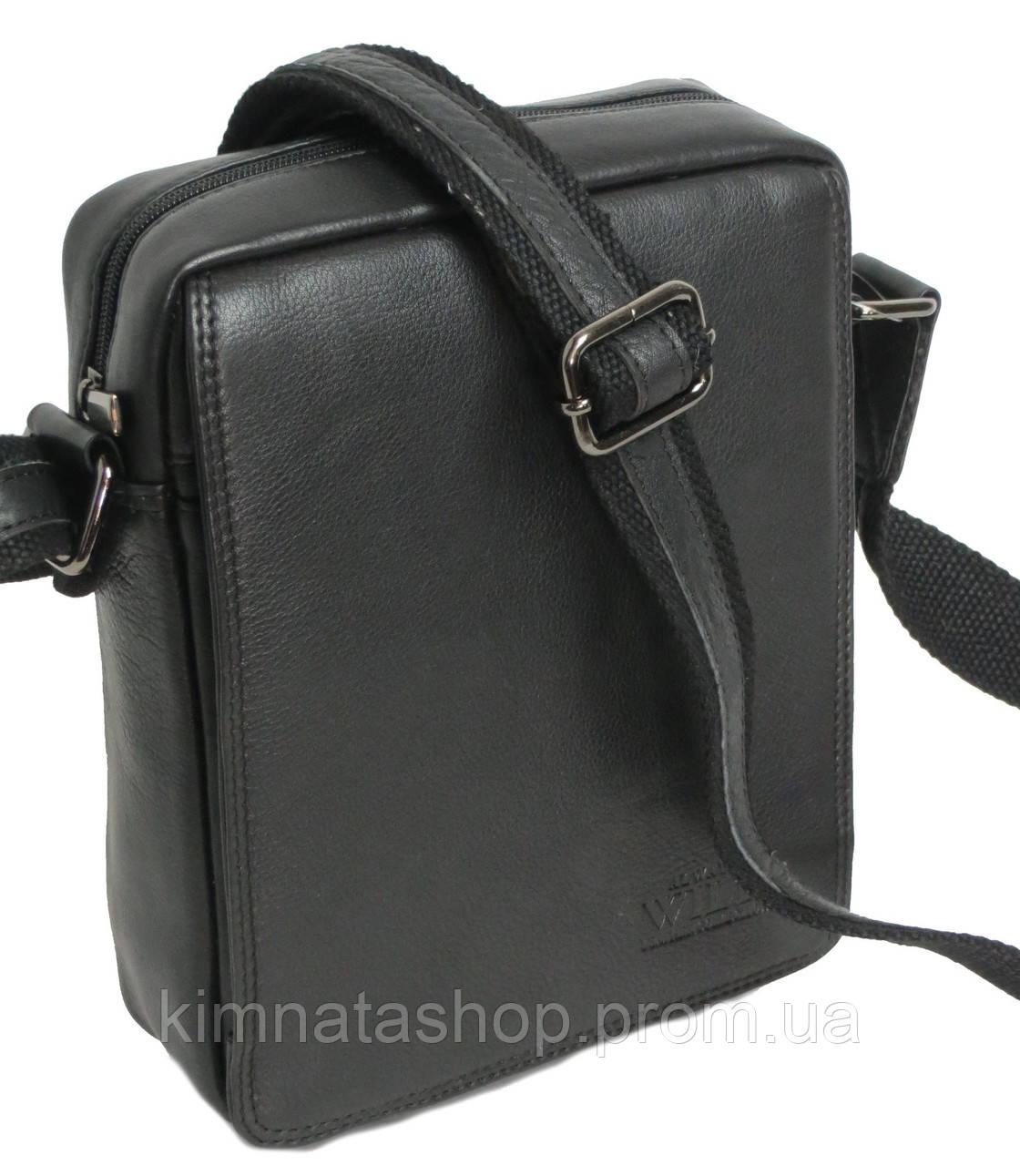 24a6b954bea9 Стильная мужская сумка-планшетка из натуральной кожи Always Wild 771 NDM  черная 18х24х8 см.