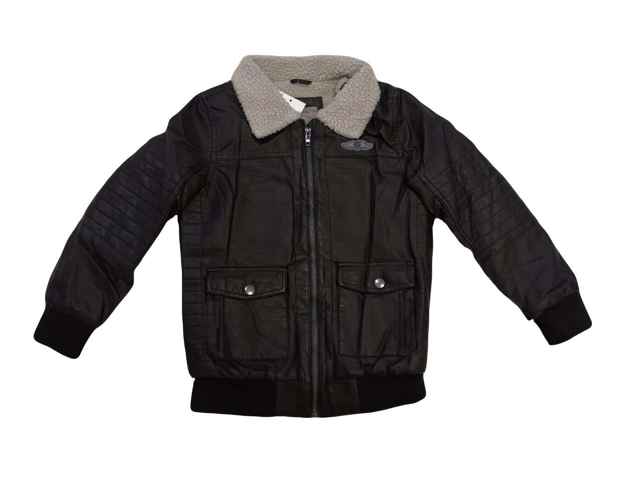 Куртки кожзам на меху для мальчиков оптом, размеры 134/140-170,  Glo-story, арт. ВPY-4424