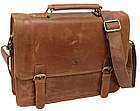 Стильная сумка-портфель из натуральной кожи Always Wild 16921 коричневая 36х29х8 см., фото 2