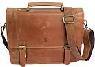 Стильная сумка-портфель из натуральной кожи Always Wild 16921 коричневая 36х29х8 см., фото 3