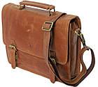 Стильная сумка-портфель из натуральной кожи Always Wild 16921 коричневая 36х29х8 см., фото 4