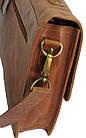 Стильная сумка-портфель из натуральной кожи Always Wild 16921 коричневая 36х29х8 см., фото 5