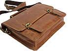 Стильна сумка-портфель з натуральної шкіри Always Wild 16921 коричнева 36х29х8 див., фото 7