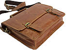 Стильная сумка-портфель из натуральной кожи Always Wild 16921 коричневая 36х29х8 см., фото 7