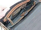 Стильная сумка-портфель из натуральной кожи Always Wild 16921 коричневая 36х29х8 см., фото 8