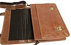 Стильная сумка-портфель из натуральной кожи Always Wild 16921 коричневая 36х29х8 см., фото 9