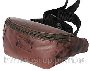 Якісна поясна сумка зі шкіри Always Wild 907-TT brown