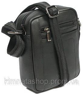 Небольшая мужская кожаная сумка для документов Always Wild 8020 NDM черная