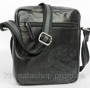 Компактная городская кожаная сумка для документов Always Wild 242WS черная
