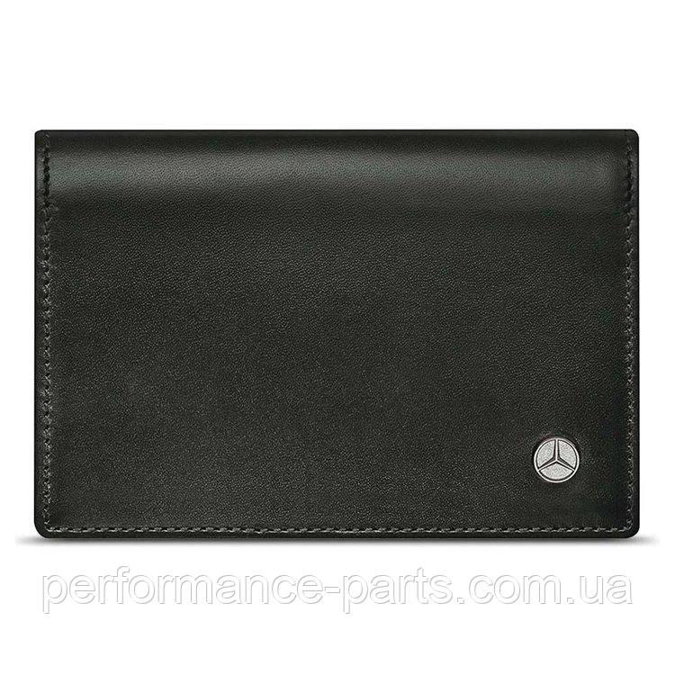 Кожаная визитница Mercedes-Benz Business Card Leather Wallet, Black B66952884