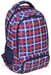 Зручний рюкзак молодіжний PASO 21L 15-8122A червоний в клітку