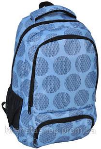 Молодіжний рюкзак з принтом PASO 21L 15-8122B блакитний