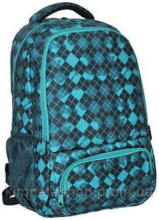 Яскравий рюкзак з принтом PASO 21L 15-8122C бірюзовий