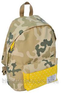 Яркий молодежный рюкзак 15 л. Paso CM-222C камуфляж/желтый