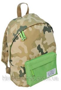 Ультра легкий городской рюкзак 15 л. Paso CM-222B камуфляж/зеленый