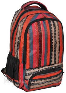 Молодіжний яскравий рюкзак в смужку PASO 21L 15-8122D червоний