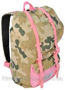 """Жіночий рюкзак з відділом для ноутбука 15,6"""", 25 л. Paso CM-192A камуфляж/рожевий"""
