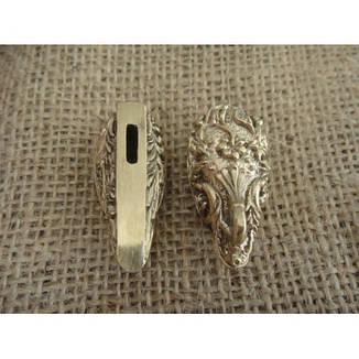 Бронзовый/мельхиоровый комплект для ножа № 44, фото 2