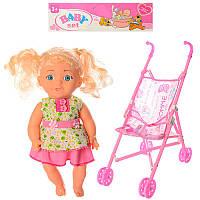 Коляска 501-7P (72шт) 50-22-49см, кукла 27см, в кульке, 63-19-7см