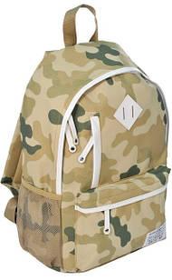 Компактный молодежный рюкзак 18 л. Paso CM-182D камуфляж/белый