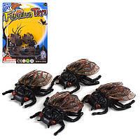 Аксессуары для праздника MK 1696 (360шт) прикол, насекомое, 4шт 3,5см, на листе, 11-15-1см