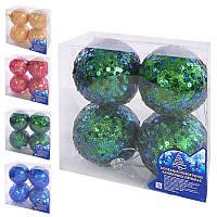 8777 Елочные шарики 8см 4шт/кор (72кор)