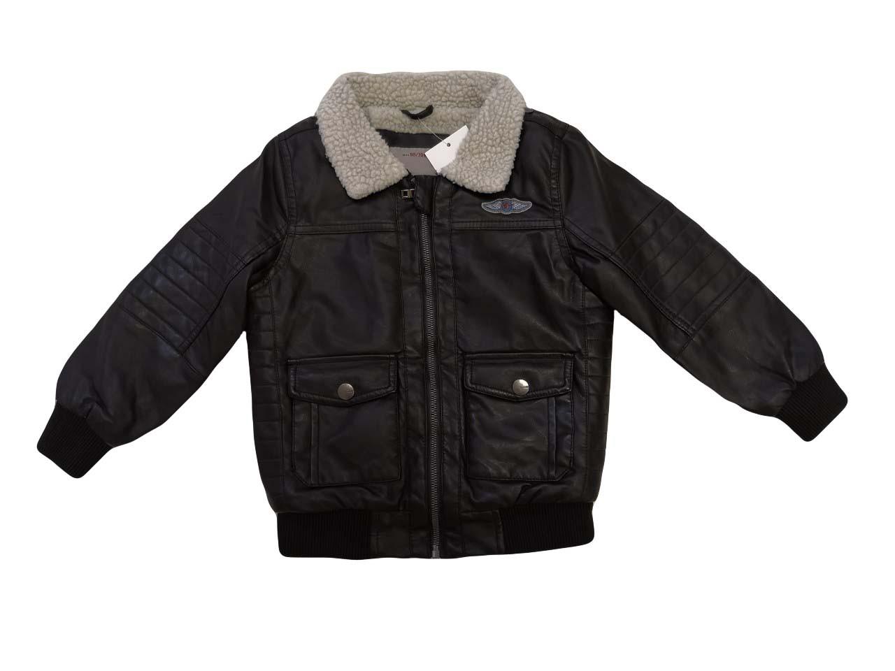 Куртки кожзам на меху для мальчиков оптом, размеры 92-122/128  Glo-story, арт. ВPY-4425