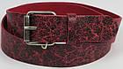 Кожаный женский ремень под джинсы Tom Tailor, Германия, 100062, бордовый, ШхД: 4х120 см, фото 2