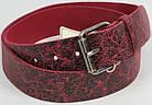 Кожаный женский ремень под джинсы Tom Tailor, Германия, 100062, бордовый, ШхД: 4х120 см, фото 3