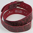Кожаный женский ремень под джинсы Tom Tailor, Германия, 100062, бордовый, ШхД: 4х120 см, фото 5
