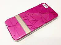 Чохол iPhone 7 силіконова 3D накладка з пластиковою основою Goospery рожевий