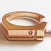 """Мужское кольцо перстень """"Алекс"""". Размер 19. Ювелирная бижутерия, позолота 18К."""
