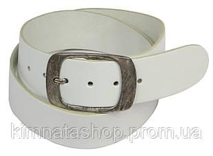 Ремень кожаный белого цвета Vanzetti, Германия, 100055, 4,8х117 см