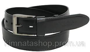 Мужской кожаный ремень ROV-3-96588 черный ДхШ: 112-131х4 см.