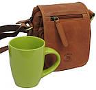 Мужская кожаная сумка Always Wild 5047-1-CBH COGNAC, коричневый 16х15х8 см., фото 2