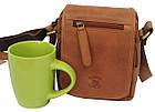 Мужская кожаная сумка Always Wild 5047-1-CBH COGNAC, коричневый 16х15х8 см., фото 3