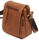 Мужская кожаная сумка Always Wild 5047-1-CBH COGNAC, коричневый 16х15х8 см., фото 4
